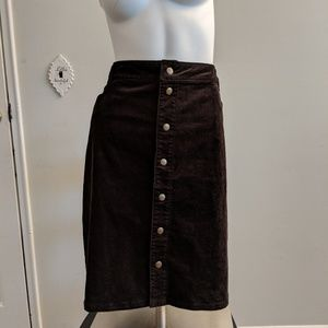 Woolrich Brown button up skirt size 16